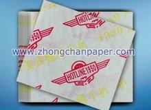 28 gsm food wrapping paper, food grade, greaseproof, waterproof.