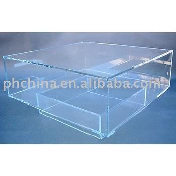 Clear Acrylic Coffee Table;Clear Plexiglass Coffee Table;Clear Perspex Dining Table