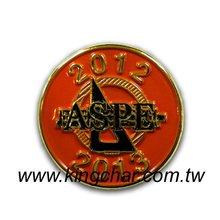 lapel pin soft enamel pins / custom lapel pins colorring