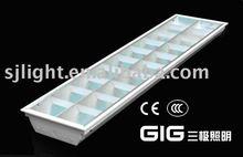 T8 Grille fluorescent lighting fixture