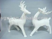 PORCELAIN DEER, Christmas deer, christmas decoration