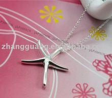 Latest fashion flash starfish necklace