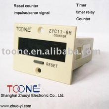 ZYC11-6H LED display+ preset digital counter AC/DC 60-260V