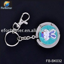 Fashion foldable fashion purse hook key ring Mix colors. FB-BK032