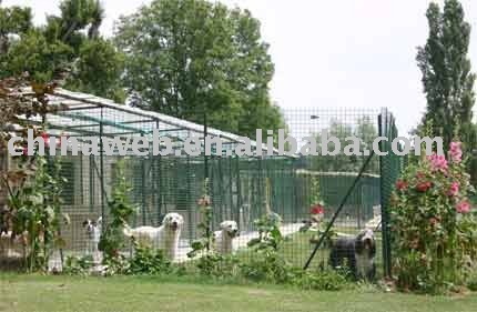 Dog kennel fencing