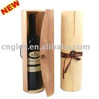 round shape wooden wine box+free sample