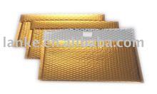 shiny gold aluminum bubble envelope and plastic mailer envelope