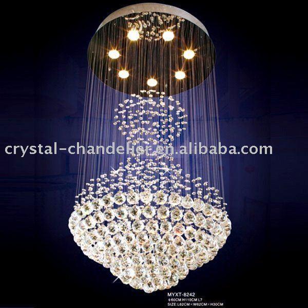 Elegant Lighting 2024D16C - 5 Light contemporary chandelier spiral