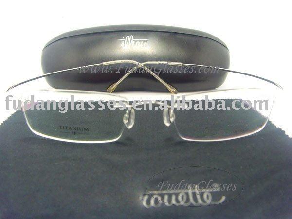 Flexible FX26 BLACK TITANIUM New Men's Flex Rimless Eyeglass Frame