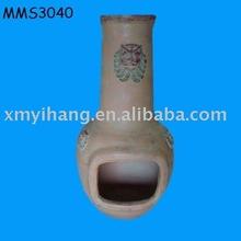 plain terracotta chiminea