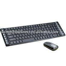 105keys + 13 multimedia keys 2.4g wireless mouse keyboard combos