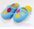 Children's slippers, three flowers (a pack of six pairs, random delivery)