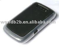 Blue Rubber Hard case for blackberry 9800