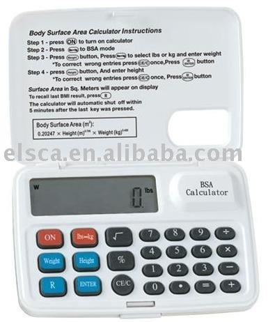 ... Medical Calculator > BSA Calculator > Body surface area BSA calculator