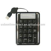 USB Mini numeric keyboard 19 keys