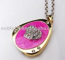 full memory capacity jewelry necklace usb pendrive