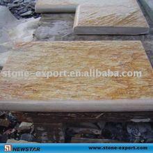 wooden yellow slate swimming pool stone