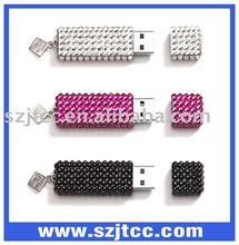 Jewel usb flash memory,jewelry flash usb disk,oem diamond usb flash