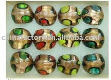 Fashion glass rings gold murano rings
