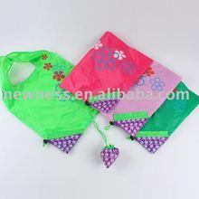 2011 latest foldable grape polyester shopping bag