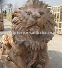 stone lion statue(factory)