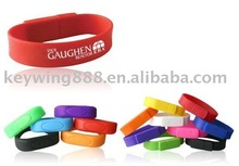 Promotion Glow Embossed Silicone band