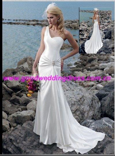 Silk Oneshoulder Wedding Dress