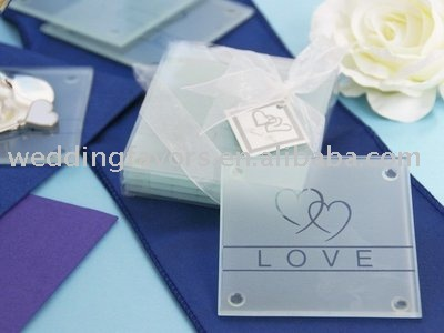 Photo Coasters Wedding Favors on Heart Glass Coaster   Detailed Info For Heart Glass Coaster Coaster