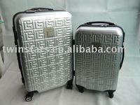 Twinstar silver trolley luggage set