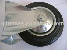 fixed black rubber caster wheel 160mm*40mm