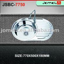 Fashion Decor Finish Round Bowl Drainboard Russian Sink JSB-7750
