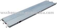 Aluminum scaffolding plank for consrtruction use