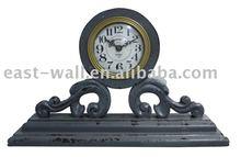 Antique Wood Craft Table Clock