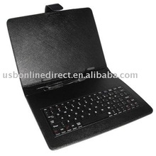Leather Case Cover With keyboard for Tablet pc