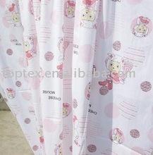 organza fabric/printed curtain fabric