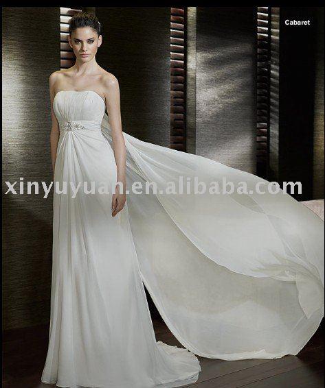 2011 Stomacher Design Romantic Beach Wedding dress SPT252