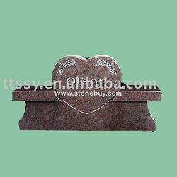 Black granite tombstone markers