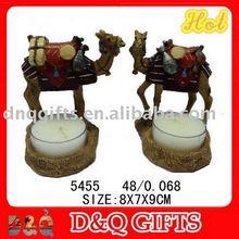 Resin camel glass candle holder