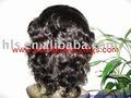 """Short cabelo humano peruca cheia do laço, 12"""", 1#,"""
