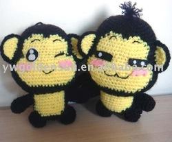 Supply 100% Handmade Crochet Decorative Lover Monkey Pattern ( 15222)
