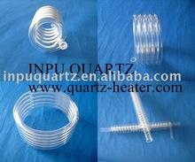 Milky Spiral Quartz Tubing