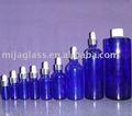 botella de cristal del aceite esencial