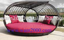 patio di alluminio ae rattan lettino per esterni
