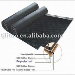 Polyester mat used for asphalt roofing base