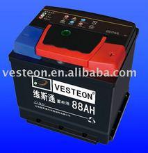 sealed Maintenance free automotive battery DIN88