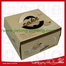 fancy corrugated cake box