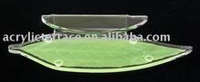 Contoured Acrylic Leaf Amenity Tray