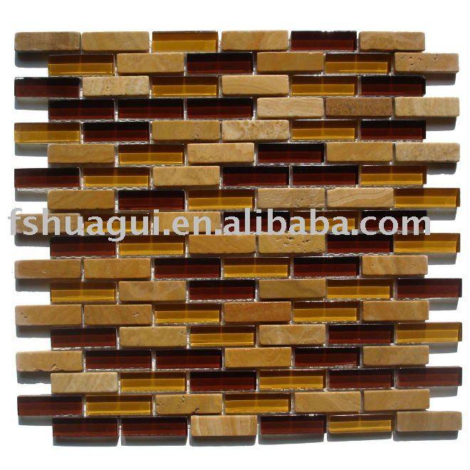 Tiras de mosaicos de metal Bellavita