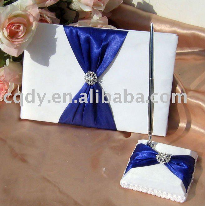 Royal blue Wedding supply wedding guest book wedding decoration Bridal guest