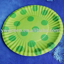 custom design colored party paper plates disposable paper tableware